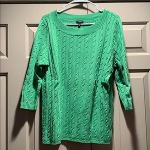 Talbots Cable Cotton Sweater